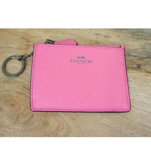 NWT COACH Mini Skinny ID Case Wallet Leather Pink